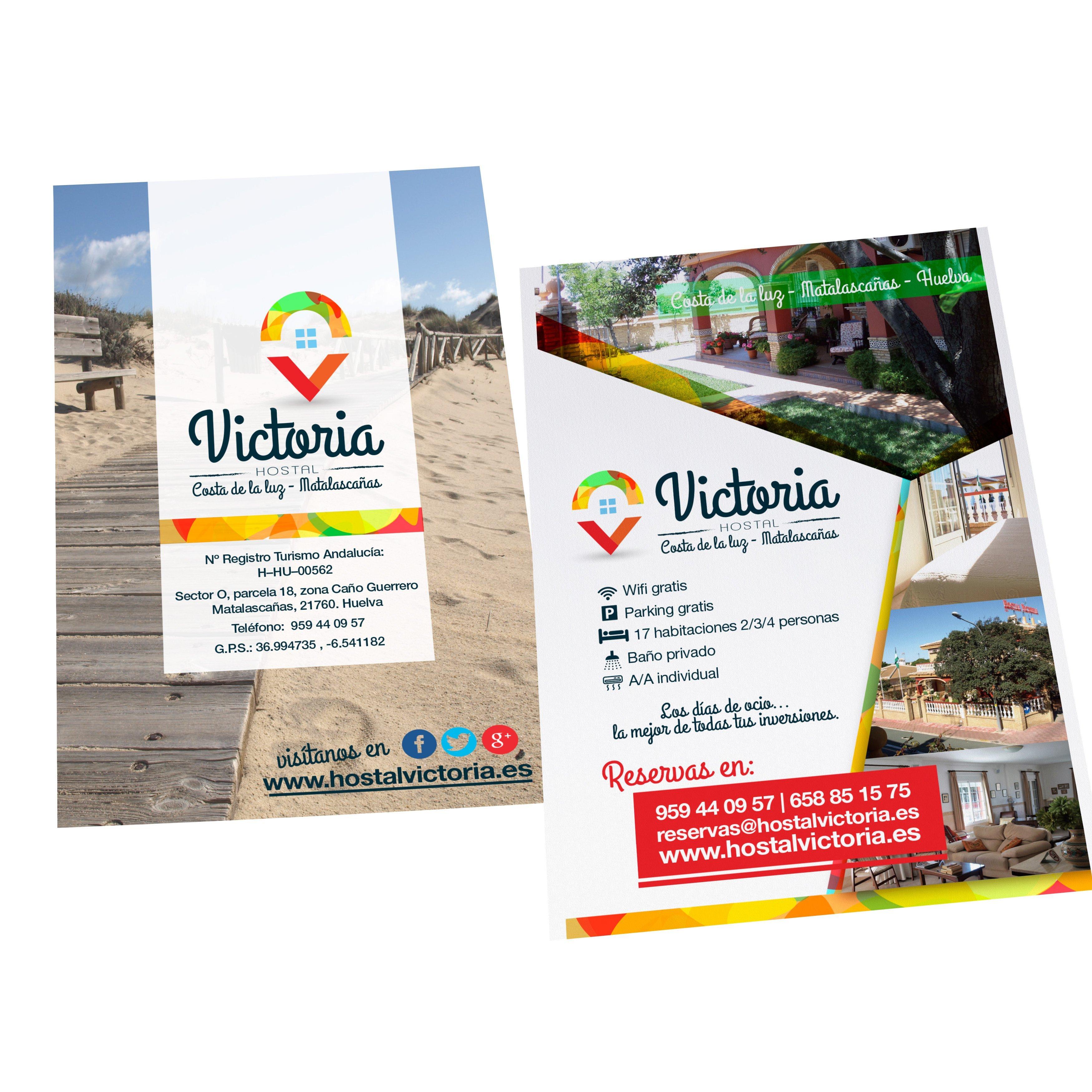 Diseño folleto Hostal Victoria