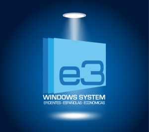 Diseño de logotipo de E3 Windows System