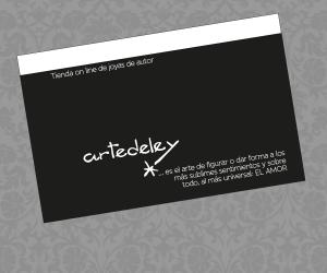 Diseño de tarjetas de visita para tienda Artedeley