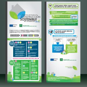 Diseño de Folleto informativo de Construcción Sostenible de la Agencia Andaluza de la Energía