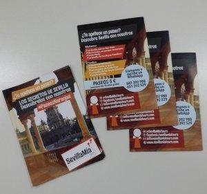 Diseño y producción de flyers para SevillaMia Tours