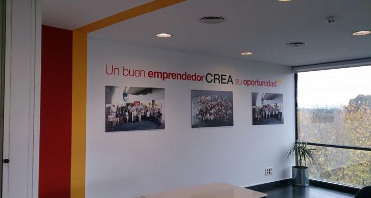 Edificio CREA. Diseño de imagen del Office