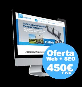 OFERTA WEB + SEO 450 EUROS