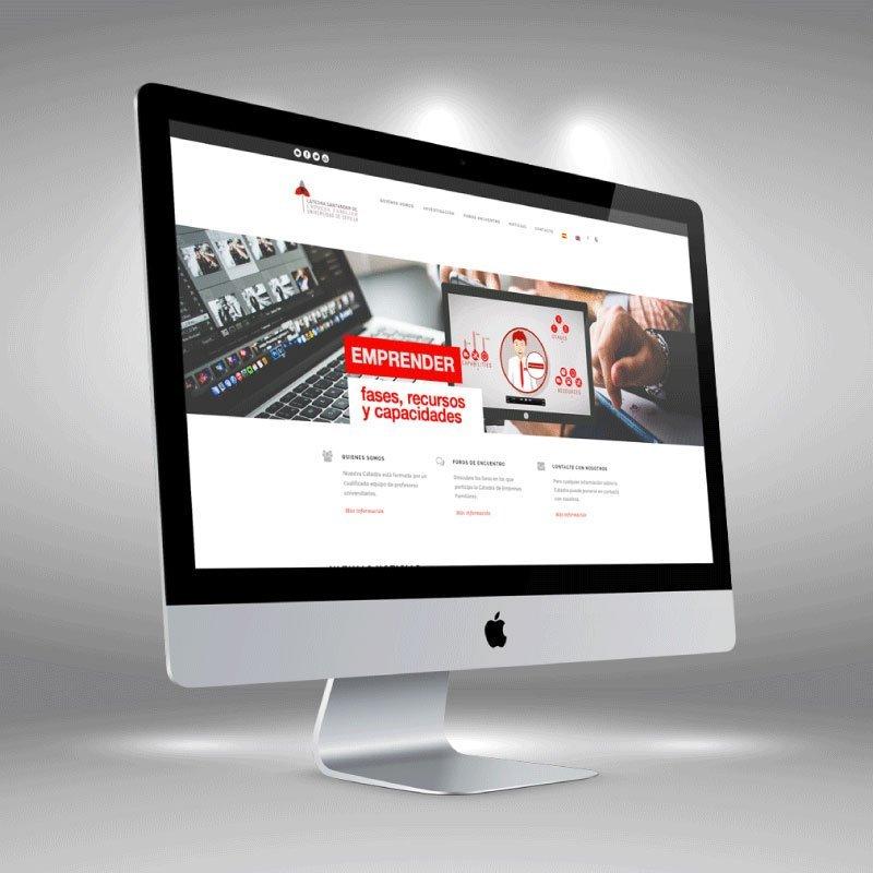 Cátedra de Empresa Familiar de la Universidad de Sevilla. Diseño Web