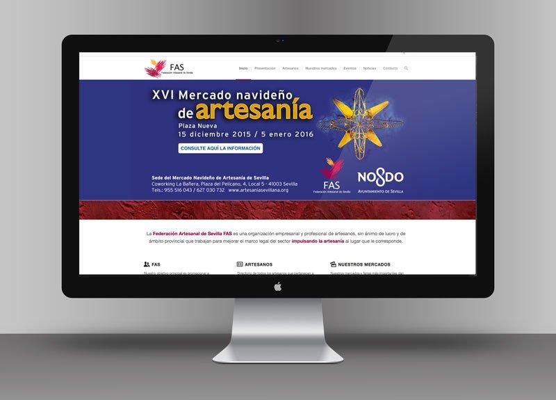 Diseño web Federación de Artesanos de Sevilla
