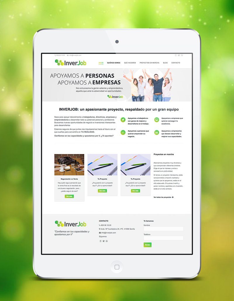 Diseño web de INVERJOB