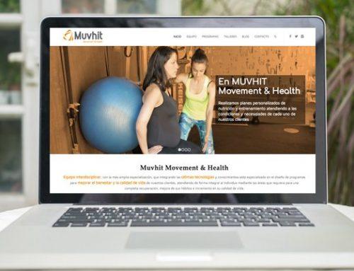 Diseño Web. Muvhit: nutrición, medicina, fisioterapia, psicología